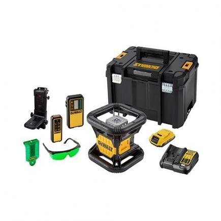 DeWALT Laser rotante, verde, con batteria e caricabatteria - DCE079D1G-QW