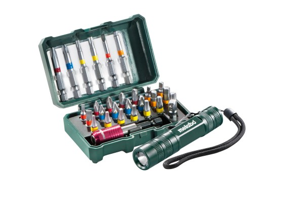 "Metabo Bit-Box ""SP"", 29-tlg.+ Mini Flash light - 626721000"