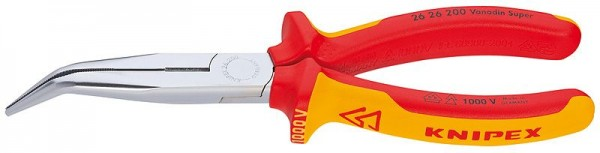 Knipex Flachrundzange mit Schneide 200 mm - 26 26 200