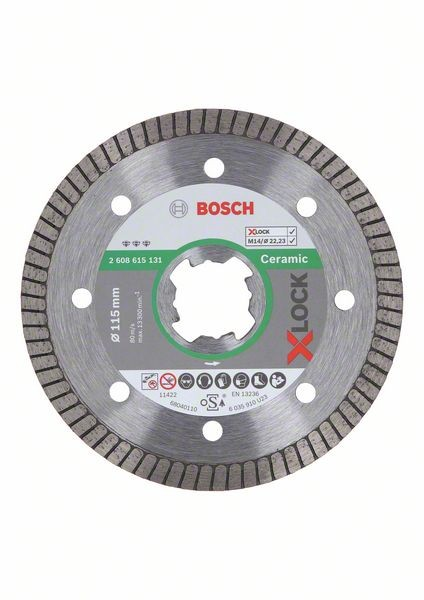 Bosch Disco diamantato X-LOCK Best for Ceramic Extra Clean Turbo 115x22,23x1,4x7 mm - 2608615131