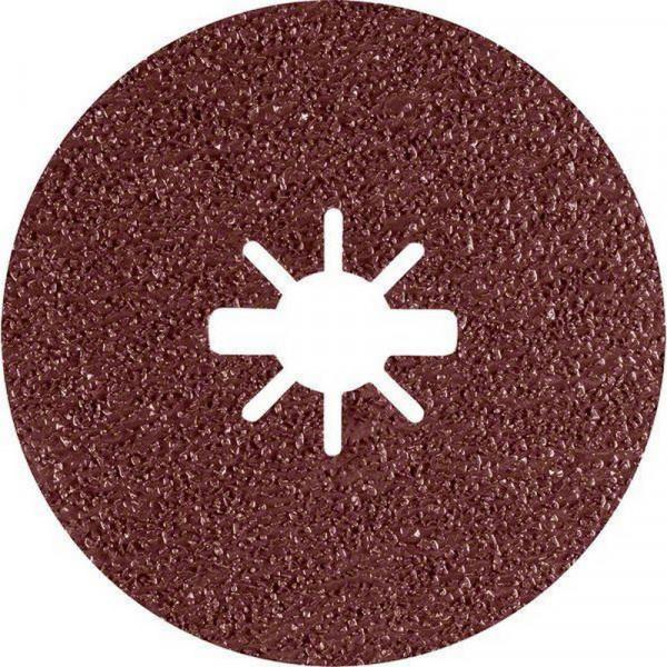 Bosch Professional EXPERT R781 Prisma Ceramic Fiberscheibe, 115mm, 22,23mm, G 36, 5-tlg.. Für Winkelschleifer mit X-LOCK und mit Spannmutter - 2608621779