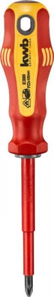 KWB VDE-schroevendraaier, geïsoleerd, PZ2, 100 mm - 663302