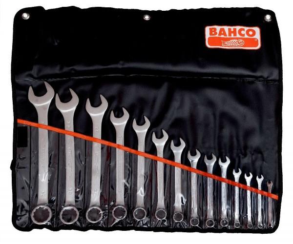 Bahco Jeu de clés mixtes plates 14 pcs dans un étui plastique, 6-32mm - 111m/14t