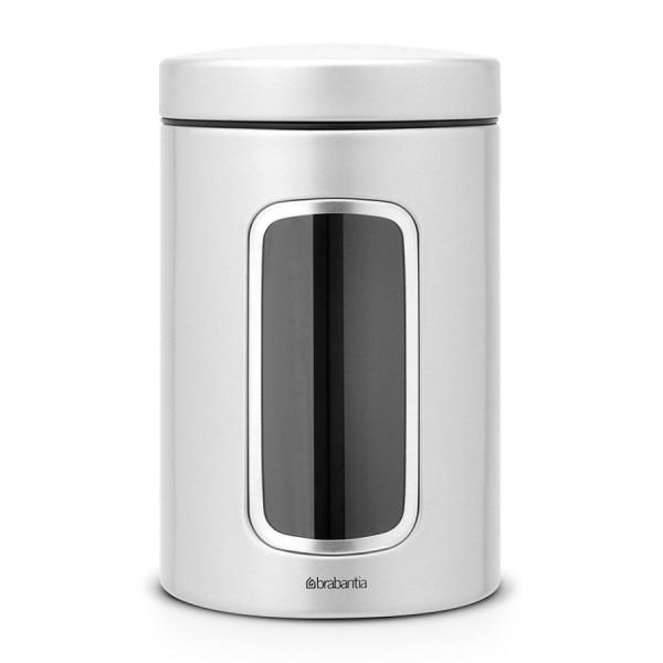 Brabantia Fensterdose 1,4 L rund Metallic Grey