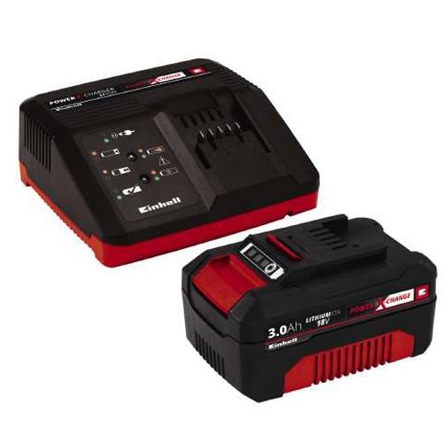 Einhell Power-X-Change Starter Kit Akku 18 V/3,0 Ah und Ladegerät - 4512041
