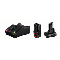 Bosch Juego básico 1 GBA 12V 2.0Ah + 1 GBA 12V 4.0Ah + GAL 12V-40 - 1600A01NC9
