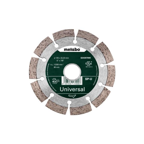 "Metabo Disco de cortar de diamante ""SP"" 125x22,23 mm, Universal, segmentado (624307000)"