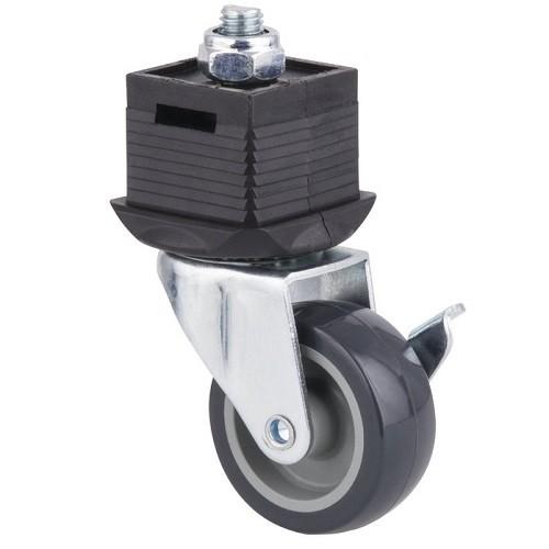 Wolfcraft Voet met wiel en rem, draaibaar - 6066000