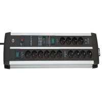 Brennenstuhl Premium-Protect-Line 120.000A presa multipla con ricarica USB, 14 prese DUO, 3m H05VV-F 3G1,5 - 1392000232