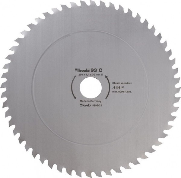 KWB Cirkelzaagblad voor de bouw en de tafel zagen ? 315 mm - 593122