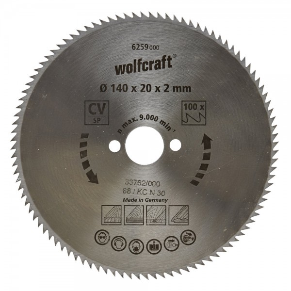 Wolfcraft Lame de scie circulaire CV, 90 dents