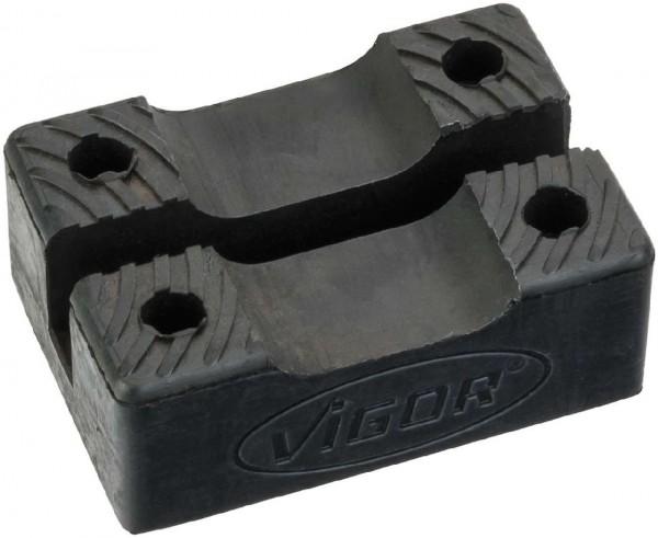 Vigor Surface d'appui en caoutchouc pour cric chandelles de 3t V2477 - V2762
