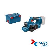 Bosch Professional GHO 18 V-LI Accu schaafmachine, L-BOXX, zonder accu en lader - 06015A0300