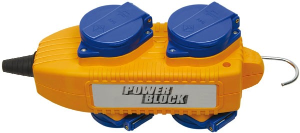 Brennenstuhl Powerblock 230V/16A IP44 Socle avec 4 prises