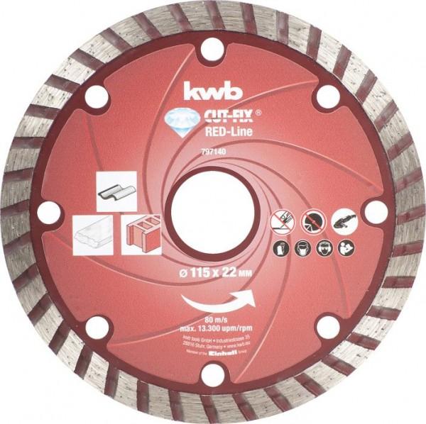 KWB CUT-FIX® Red-Line DIAMANT-doorslijpschijven, ø 115 mm - 797140