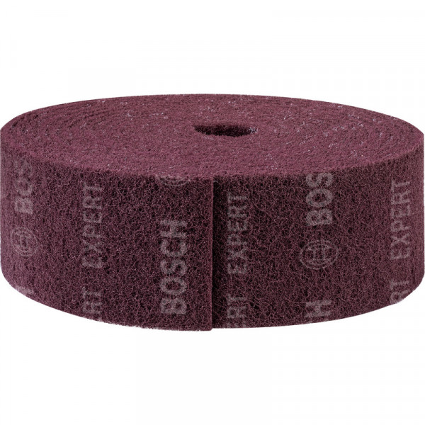 Bosch Professional EXPERT N880 Vliesrolle zum Handschleifen, 115mm x 10m, Medium A, 10-tlg., für Handschleifen - 2608901229
