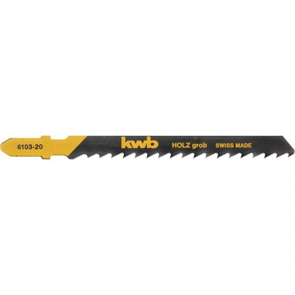 KWB Decoupeerzaagbladen, houtbewerking, speciale priktand, HCS-koolstofstaal, grof - 610320