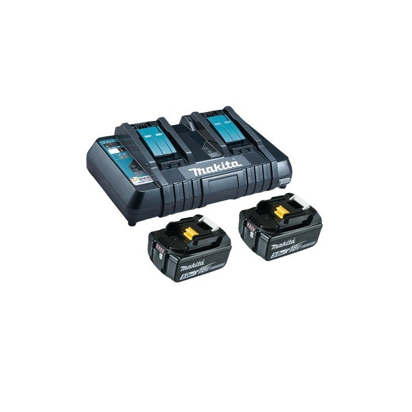 Makita Power Source Kit Li 18,0V 5Ahi ncl. Caricabatterie rapido & 2 Batterie - 199482-2