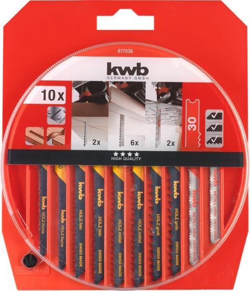 KWB Decoupeerzaagbladenset, 10-delig - 617030