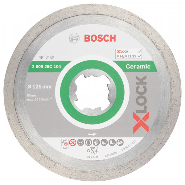 Bosch Professional Disque à tronçonner diamanté Standard for Ceramic 125 x 22,23 x 1,6 x 7 - 260925C104
