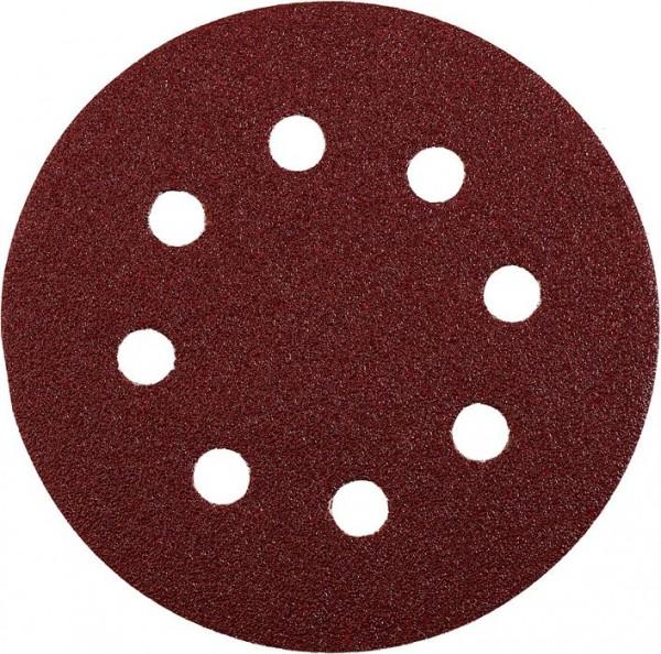 KWB QUICK-STICK schuurschijven, HOUT & METAAL, edelkorund, Ø 125 mm, geperforeerd - 491900