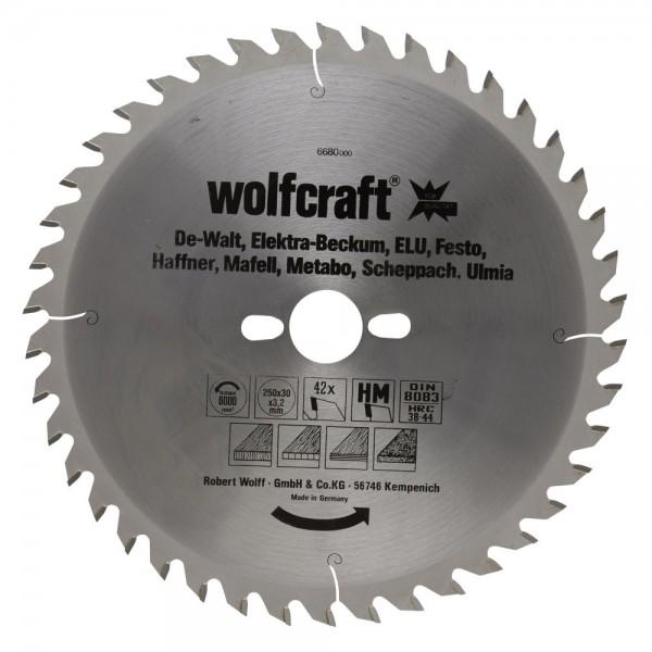 Wolfcraft Lames de scies circulaires de table Série orange - 6680000