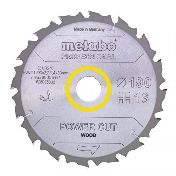 Metabo Hoja de sierra circular HW/CT 160 x 20 x 2,2/1,4, nº de dientes 30, diente intercambiable, ángulo de desprendimiento de virutas 5° (628071000)