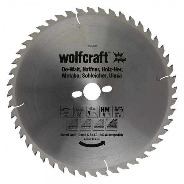 Wolfcraft lama per seghe circolare da banco HM, di prec., 48 denti
