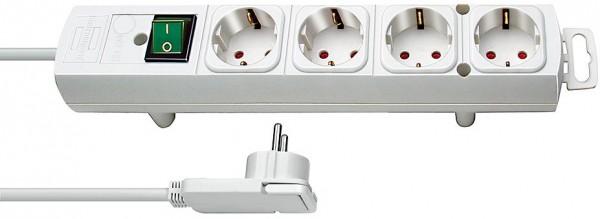 Brennenstuhl Comfort-Line Plus Steckdosenleiste mit Flachstecker 4-fach weiss 2m H05VV-F 3G1.5