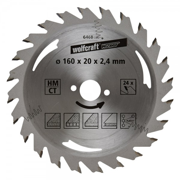 Wolfcraft Lame de scie circulaire CT, 24 dents