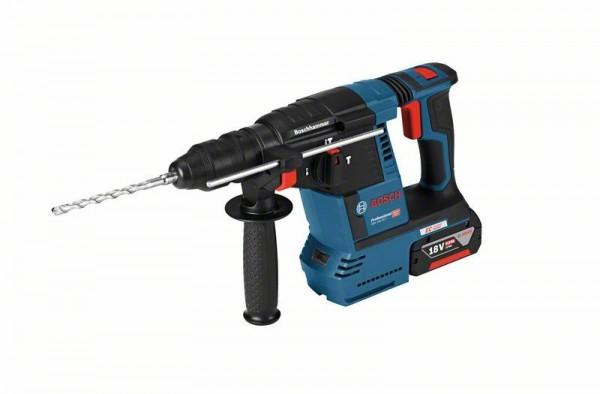Bosch Professional Akku-Schlagbohrhammer GBH 18V-26 F, mit 2 x 6,0 Ah Li-Ion, GDE 18V-16, L-BOXX