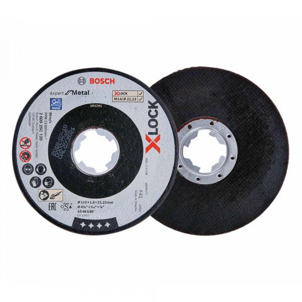 Bosch 5x Trennscheibe gerade X-LOCK Expert for Metal 115x1,6x22,23 - 260925C120
