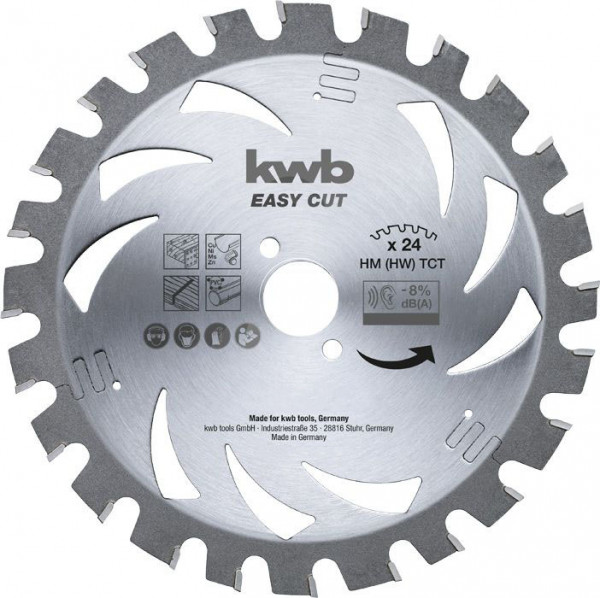 KWB EASY CUT, dun zagend cirkelzaagblad, met hardmetaal versterkt - 586138