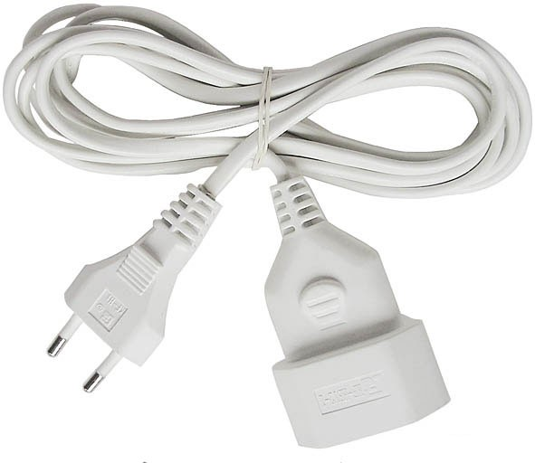 Brennenstuhl Cabel de plástico, 3m H03VVH2-F 2x0,75, blanco - 1161660