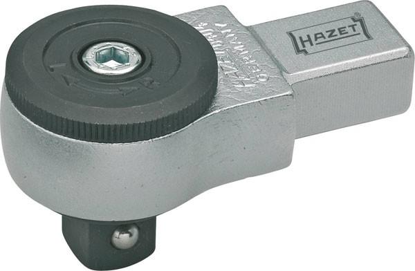 Hazet Einsteck-Umschaltknarre - Einsteck-Vierkant 9 x 12 mm - Vierkant massiv 10 mm (3/8 Zoll) - Gesamtlänge: 58.5 mm - 6402