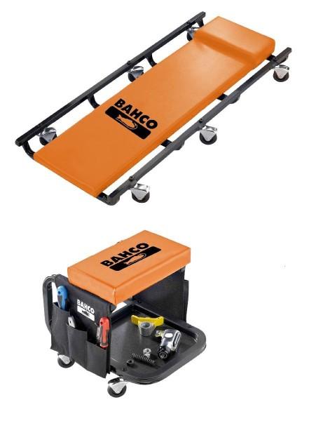 Bahco Ensemble chaise longue roulante et chaise de travail - BLE304