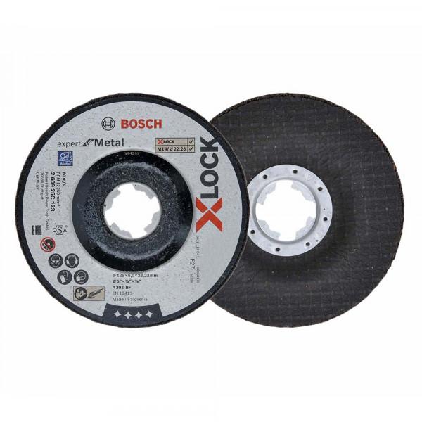 Bosch 5x Schruppscheibe gekröpft X-LOCK Expert for Metal 125x6x22,23 - 260925C123