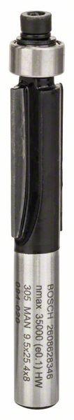 Bosch Fraises à araser 8 mm, D1 9,5 mm, L 25,4 mm, G 68 mm