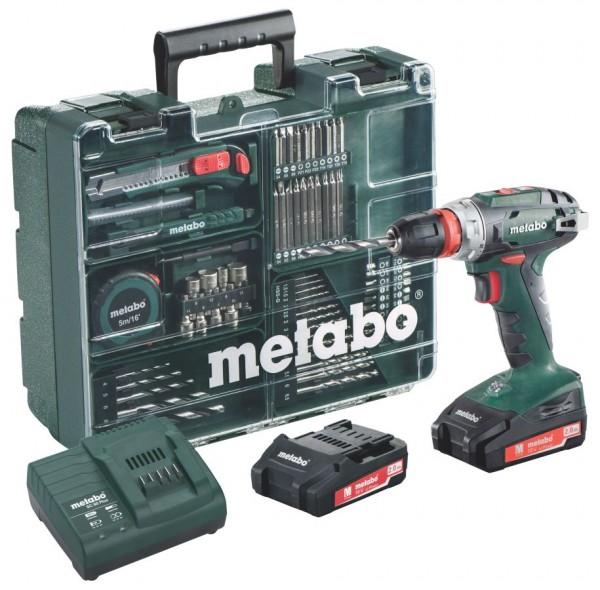 Metabo Akku Bohrschrauber 18 Volt BS 18 Quick Set 2 Li-Power Akkupacks (18 V/2,0 Ah)