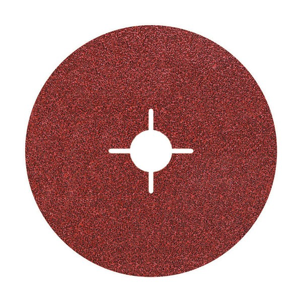 Wolfcraft 5 discos de lijar de fibra, grano 100 - 2475000