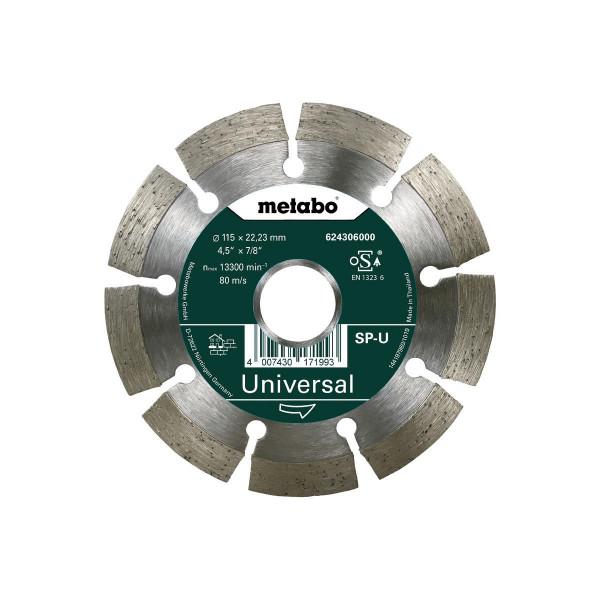 "Metabo Disco de cortar diamantado ""SP"" 125x22,23 mm, Universal, segmentado (624306000)"