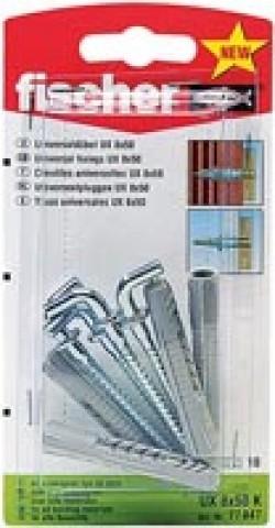 Fischer Universaldübel UX 8 x 50 WH K SB-Karte - 1 Stück