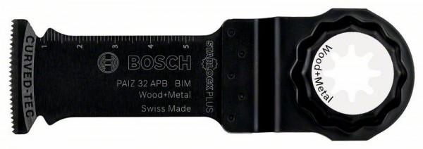 Bosch Professional Starlock Plus BIM Tauchsägeblatt PAIZ 32 APB Wood and Metal, 60 x 32 mm, 1-er Pack - 2608662558