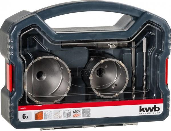 KWB Holle boorkroon HARDMETAAL, 6-delig - 499176