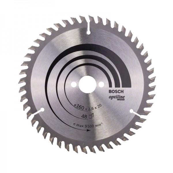 Bosch Lame de scie circulaire Optiline Wood 160 x 20/16 x 2,6 mm, 48