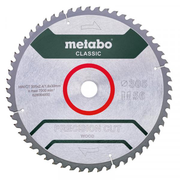 Metabo Lame de scie « precision cut wood - classic », 305x30, Z56 WZ 5° nég - 628064000