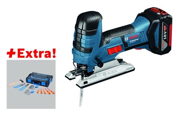 Bosch Professional Professional set accudecoupeerzaag GST 18V-LI S + 2 x 5,0 Ah accu in L-BOXX + 26-delige Gedore-set in L-BOXX - 0615990J7F
