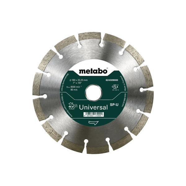 "Metabo Disco de cortar diamantado ""SP"" 180x22,23 mm, Universal, segmentado (624309000)"