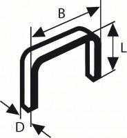 Bosch  Agrafe à fil fin de type 53 11,4 x 0,74 x 10 mm (1000pcs)