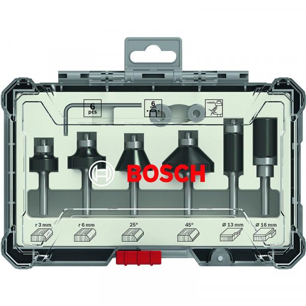 Bosch Kit de 6fraises à araser et de bordage à queue de 6mm - 2607017468